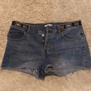Forever 21 Jean Shorts - Aztec Waistband